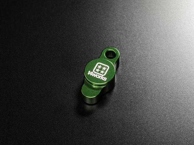 T4WORKS T4-OC01GR ビレットオイルフィラーキャップ【グリーン】
