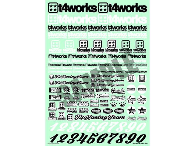 T4WORKS T4-STK01 T4_WORKSオリジナルロゴステッカー