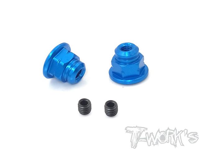 TEAM AJ TA-129-B サンワM17用ハンドルナット【ブルー/2pcs】