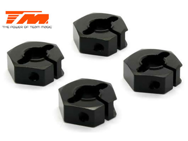 TEAM MAGIC TM507140BK Aluminum 7075 - Hex Wheel Adapter (4 pcs)