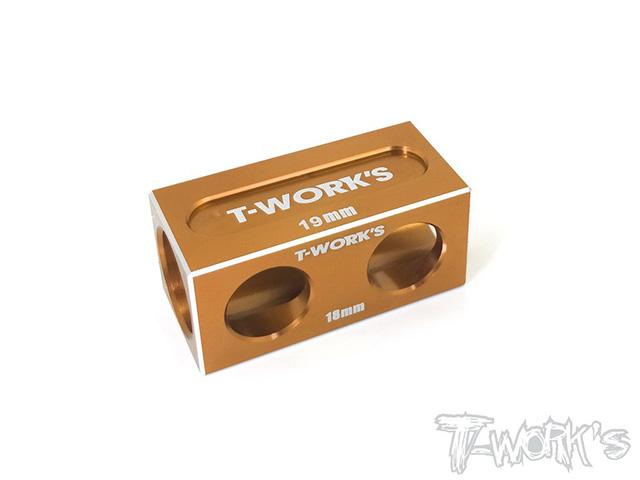 TEAM AJ TT-050O アンチツウィークブロック 18mm/19mmバルク用【オレンジ/YOKOMO BD9/XRAY T4用】