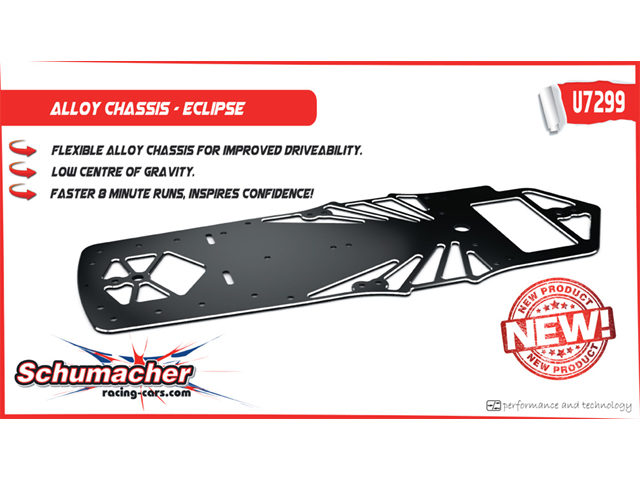 Schumacher U7299 Alloy Chassis - Eclipse