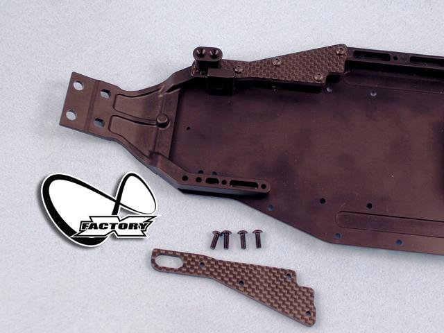 X-Factory XI-608 XRAY XB2用カーボンフロントシャーシブレース