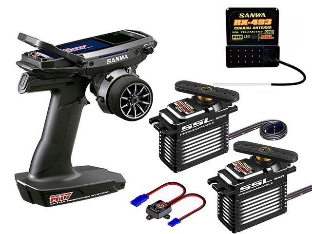 SANWA 101A32416A M17【RX-493/PGS-XB2 x2】サーボ付き【SXR対応/ソフトウェアVer.1.01.09】