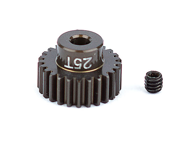 ASSOCIATED 1343 FT Aluminum Pinion Gear, 25T 48P, 1/8 shaft