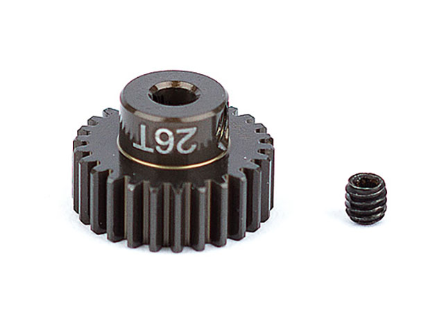 ASSOCIATED 1344 FT Aluminum Pinion Gear, 26T 48P, 1/8 shaft