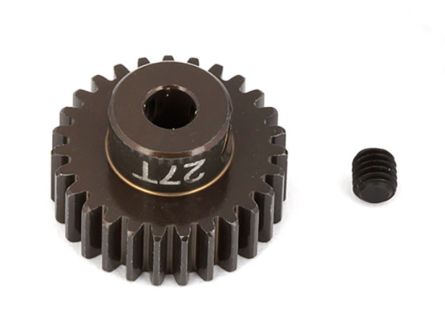 ASSOCIATED 1345 FT Aluminum Pinion Gear, 27T 48P, 1/8 shaft