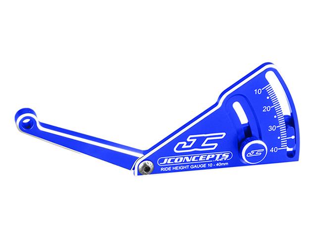 JConcepts JC-2282-1 アルミ製ライドハイトゲージ・ブルー【1/10 & 1/8バギー用】