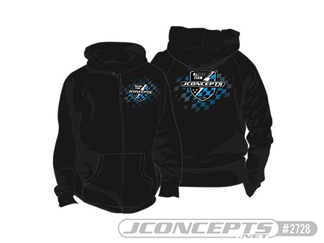 JConcepts JC-2728L** FINISH LINE ジップアップパーカー【ブラック/L】