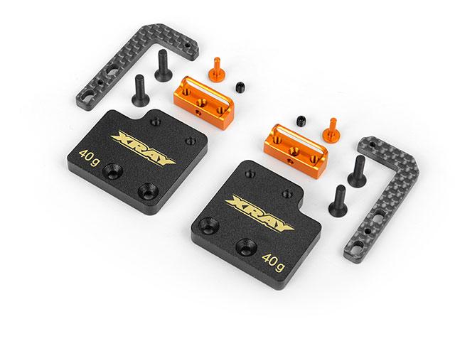 XRAY 306195 アルミアジャスタブルバッテリーホルダー&ウェイトセット【ショートバッテリー用/XRAY T4】