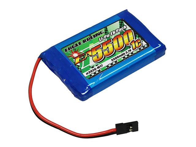 EAGLE RACING 23926-M17 Li-PoバッテリーEA5500/3.7V1C SANWA M17送信機用平型サイズ