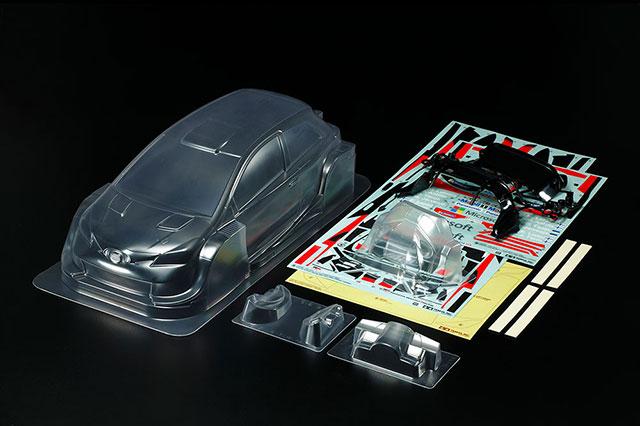 TAMIYA 47421 トヨタ ガズー レーシング WRT/ヤリス WRC 軽量ボディパーツセット