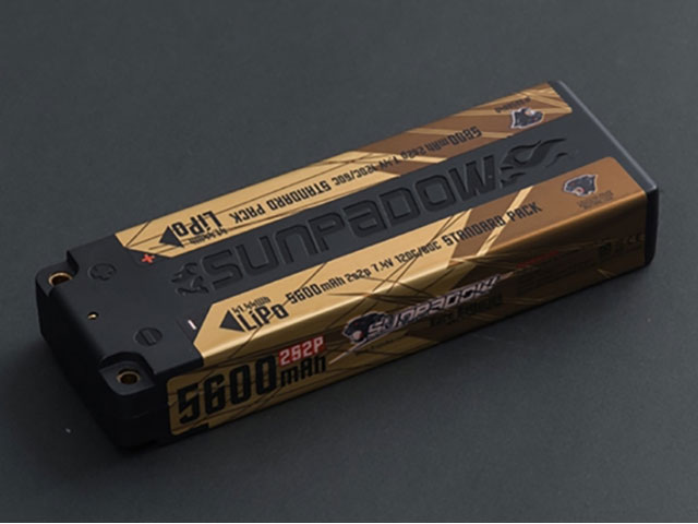 SUNPADOW 5656040 7.4V / 5600mAh / 120C GOLDEN SERIESリポバッテリー