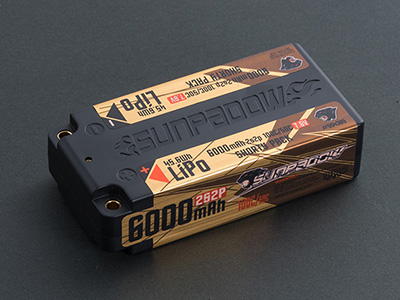 SUNPADOW 573592 7.6V / 6000mAh / 100C GOLDEN SERIES ショートリポバッテリー