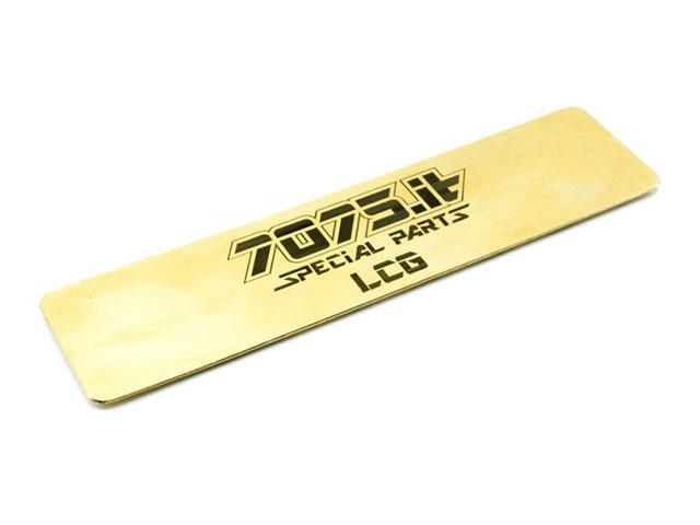 RC-MISSION 7075-LCG-XBW 7075it 35g LCG バッテリーウエイト【XRAY T4 2019アルミシャーシフレックス専用】