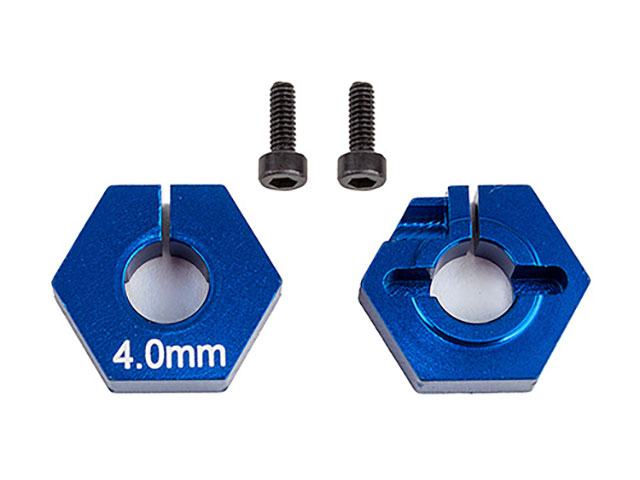 ASSOCIATED 91862 FT Clamping Wheel Hexes, 4.0 mm