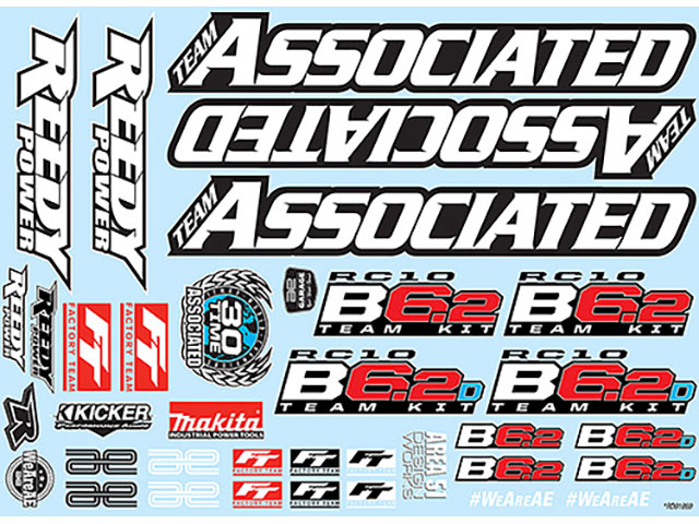 ASSOCIATED 91869 RC10B6.2 Decal Sheet