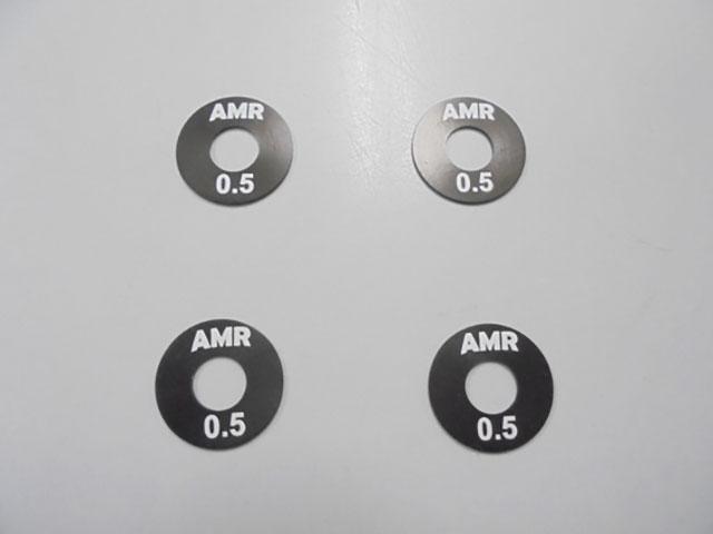 AMR AMR-013-0.5 5mm穴12HEXホイールスペーサー(0.5mm/4枚)