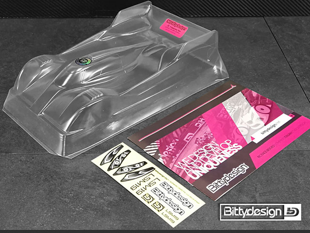 Bittydesign BD12-LSM19ULT LSM19 クリアーボディ 1/12レーシング ウルトラライトウェイト