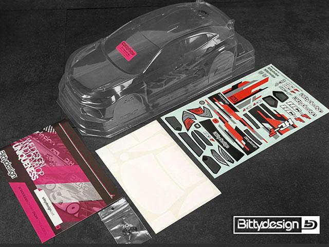 Bittydesign BDFWD-190HCF HC-F クリアーボディ190mm FWD ライトウェイト