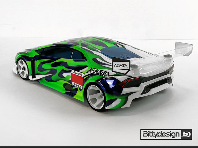 Bittydesign BDGT12-AGT AGATA 1/12 クリアーボディ GT12用ボディ