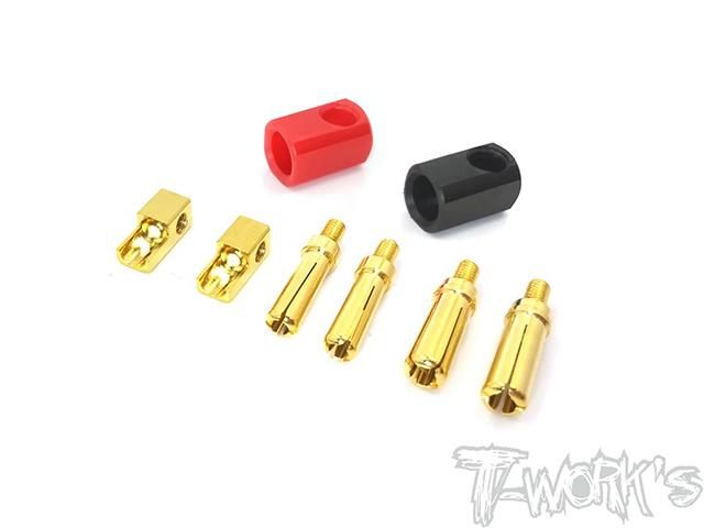TEAM AJ EA-033 T-Work's L型バッテリーコネクター【プラグ脱着式・4mm & 5mm】