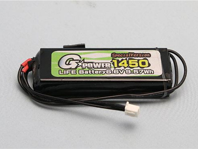 G☆STYLE GB20037 GP受信機用Li-Feバッテリー 6.6V 1450mAh ストレートタイプ SPECIAL VERSION