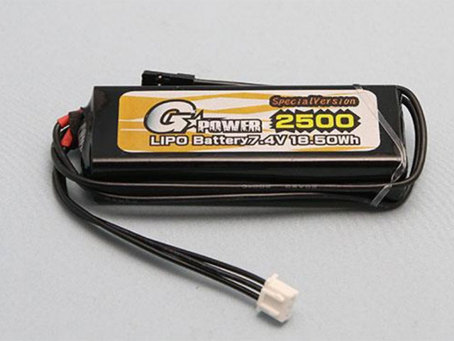 G☆STYLE GB20040 GP受信機用Li-Poバッテリー 7.4V 2500mAhストレートタイプ SPECIAL VERSION