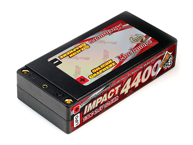 Muchmore MLSG-STLCGMP4400 インパクトSilicon Graphene LCG Max-Punch FD4 Li-Poバッテリー4400mAh/7.4V 130C ショッティハードケース・ピン仕様