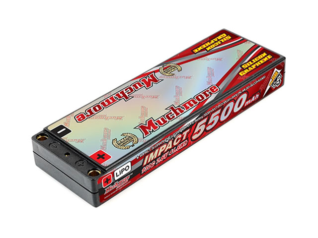 Muchmore MLSG-SLCGHV5500 インパクト Silicon Graphene Super LCG HV FD4 Li-Poバッテリー5500mAh/7.6V 130C ハードケ-ス・ピン仕様