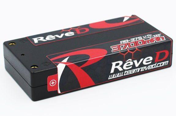 Rêve D RB-37S 7.4V/3700mAh ショートサイズ Li-Po バッテリー
