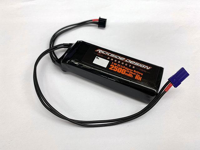 SPIRAL RXP01-SA_L 7.4V2500mAh受信機用LIPOバッテリー(コードロングタイプ/フラットタイプ)・サンワ純正コネクター装着済み