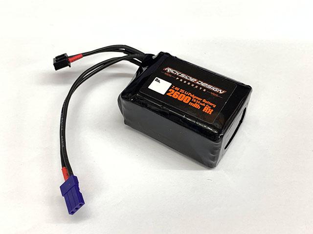 SPIRAL RXP02-SA 7.4V2600mAh受信機用LIPOバッテリー(俵タイプ)・サンワ純正コネクター装着済み