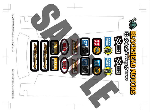 T4WORKS T4-STK02-WH BLOCKHEADMOTORS&T4WORKSコラボステッカーキット【ホワイト】
