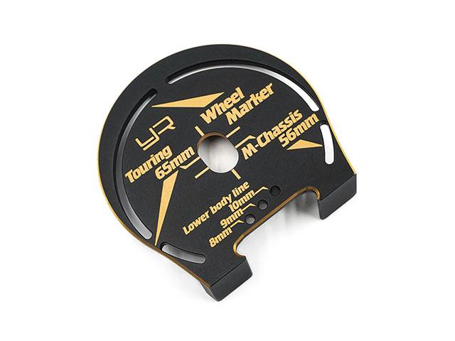 YEAH RACING YT-0203BK/GD アルミ製ホイールマーカー 1/10ツーリング/Mシャーシ用【ブラック/ゴールド】