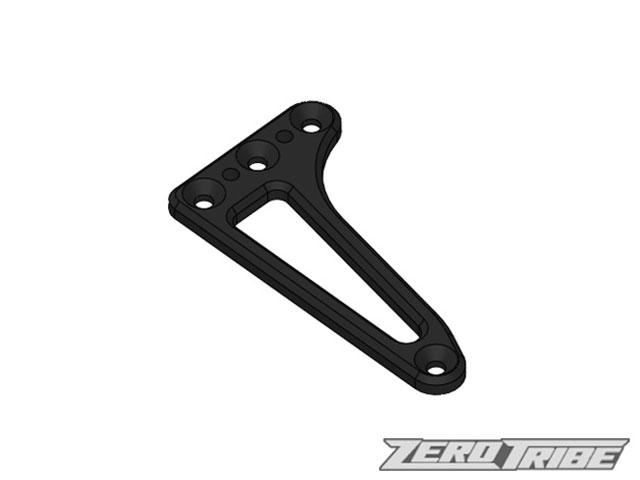ZEROTRIBE ZT1011 アルミフローティングサーボホルダー ブラック【XRAY T4 2019/2018/2017用】