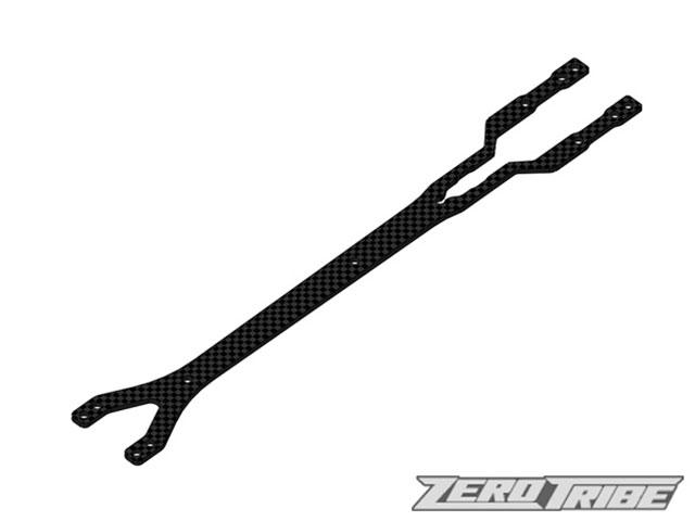 ZEROTRIBE ZT1042 カーボンアッパーデッキ 2.0mm ナロータイプ【XRAY T4 2019/2018/2017用】