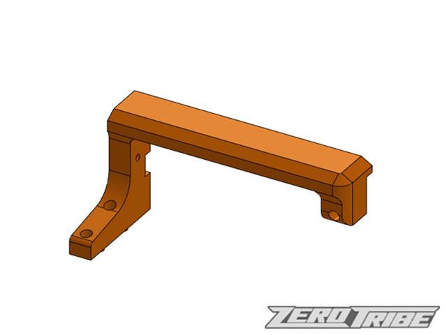 ZEROTRIBE ZT1065 アルミフローティングサーボマウント オレンジ(T4用ハイブリッドシャーシ/MID コンバージョンキット用))