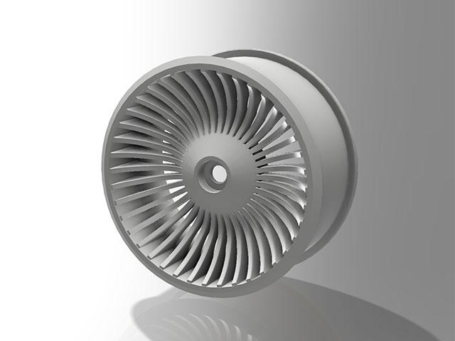 TEAM AJ 3D-F7PX-W ステアリングホイール・ホワイト【FUTABA 7PX用】