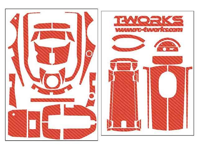 TEAM AJ TS-048R 3D カーボン柄プロポスキン フタバ 4PM用【レッド】