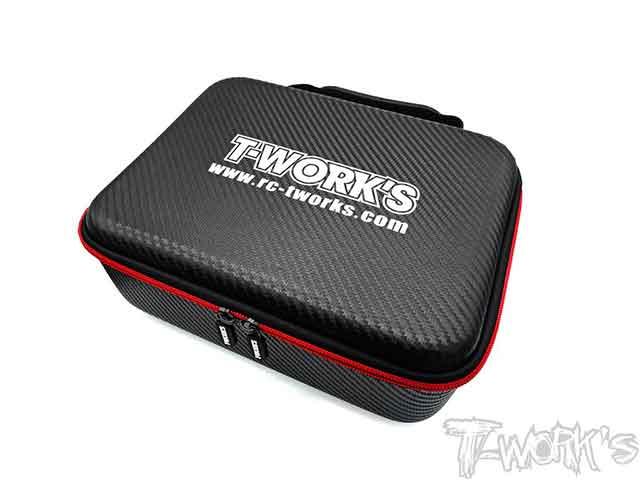 TEAM AJ TT-075-B T-Work's カーボン調コンパクトハードケース