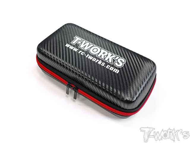 TEAM AJ TT-075-A T-Work's カーボン調コンパクトハードツールケース(S)