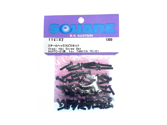 SQUARE TTC-42 スチールヘックスビスセット タミヤTC-01用