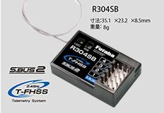 FUTABA 00106939-3 R304SB 2.4GHz T-FHSSカー用4ch レシーバー