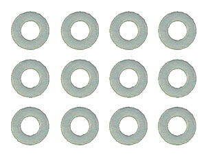 ASSOCIATED 4187 Washers, 1/32 in (.03 in), nylon spacers