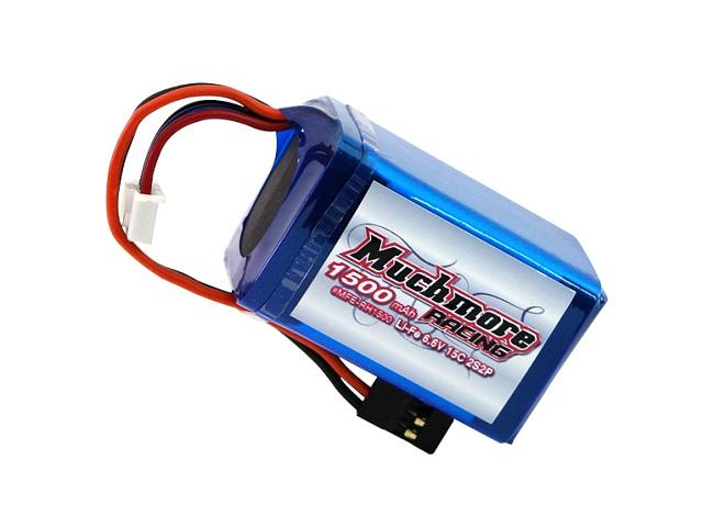 Muchmore MFE-RH1500 Li-FeバッテリーMR1500/6.6V 15C 俵型サイズ 受信機用